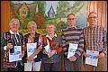 Album Sportabzeichen-Ehrung 2013:  35 Prüfungen v.l.n.r.: Runhild Schürmann, Christa Syring, Erika Bräutigam, Egon Strippel, Manfred Werner.
